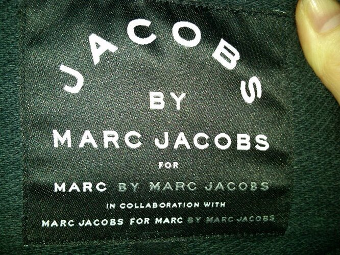 Jacobs by Marc Jacobs for Marc by Marc Jacobs in collaboration with Marc Jacobs for Marc by Marc Jacobs